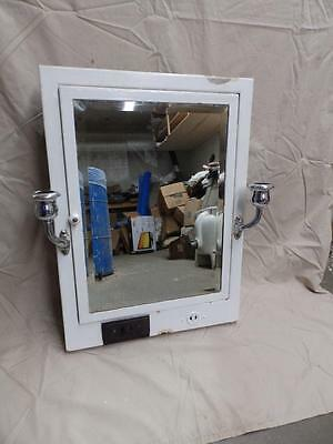 Vintage Recessed Metal Medicine Cabinet Beveled Mirror Chrome Light Old 3746-14