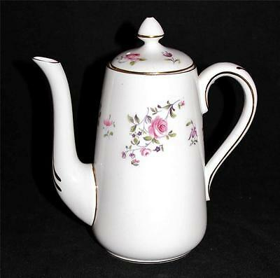 Crown Staffordshire Pink Rose Flowers Individual Coffee Pot, F7295