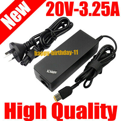 Laptop Charger 20V 3.25A 65W AC Adapter for Lenovo IdeaPad Yoga 2 Notebook
