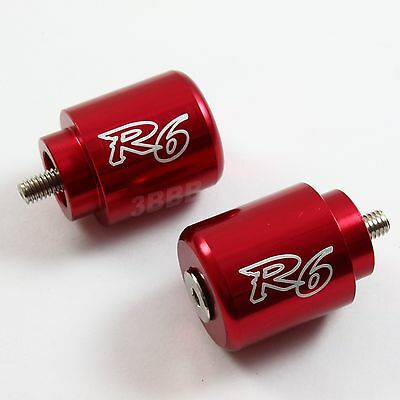 Z10 YAMAHA YZF R6 Red BAR ENDS 2006 2007 2008 2009 2010