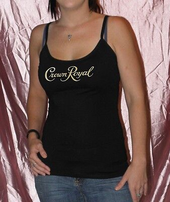 Ladies Spaghetti Strap Tank Top, Nightclub, Bar, Club Promo, Crown Royal, Sheer