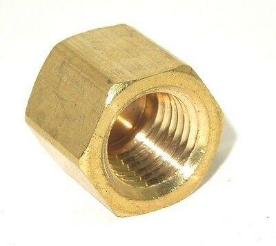 """Brass Hex Pipe Cap 1/4"""" Npt High Pressure Factory New ***ships Free***  555Er02"""