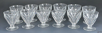 "12 Beautiful Baccarat ""Tallyrand"" Crystal 4 ¼ inch Water Goblets or Glasses"