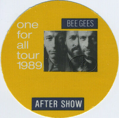 BEE GEES 1989 ONE FOR ALL Backstage Pass ASO yellow