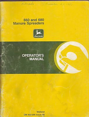 John Deere 660 & 680 Manure Spreaders Manual