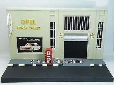 Opel Garage Petrol Gas Station Diorama Model Coldcast Resin Version R0154X(=)