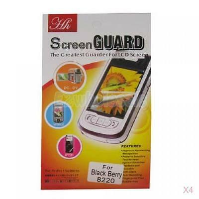 4x Screen Protector for Blackberry Pearl Flip 8220 8230
