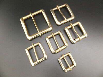 """Brass Solid 2"""" - 1.5"""" - 1.25"""" - 1"""" .3/4 Inch - West End Single Roller Buckle"""