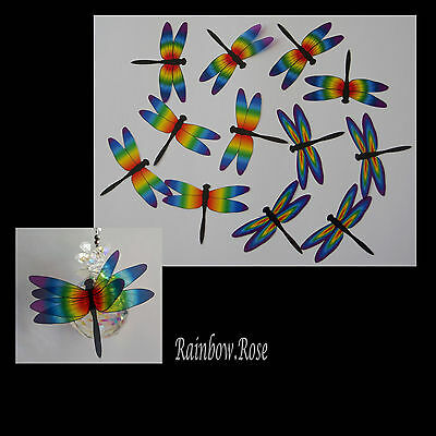 Transparent Film Dragonfly #51 CHAKRA Size 3 PRE-CUT 3, ,6 12, 24 suncatchers 3D