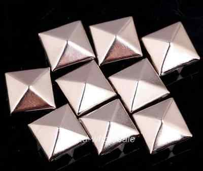 80pcs Pyramid Shaped Iron Metal Studs Rivets Finding for Leather craft 8mm