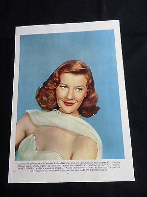 Lois Maxwell - Film Star - 1 Page  Picture- Clipping/cutting