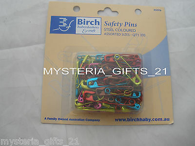 Safety Pins Assorted Pack Of 100 Colored