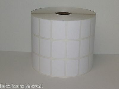 """1 Roll of 9000 1.25x.875 Blank UPC DIRECT THERMAL ZP450 3-Across 1"""" core Labels"""