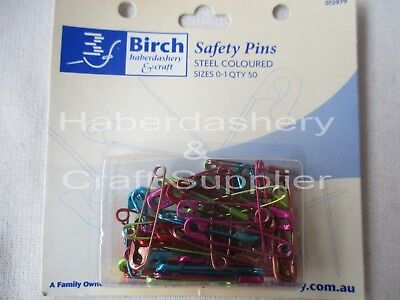 Safety Pins 0-1 Pack Of 50 Colored