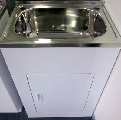 Stainless Steel Laundry Tub With Legs : Compact 35 Litre Laundry Sink Trough Tub Cabinet