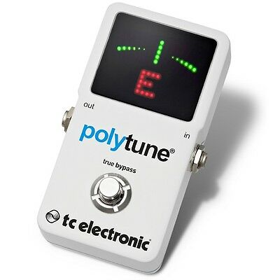 TC Electronic Polytune 2 Guitar Tuner Pedal Tuning Polyphonic Chromatic