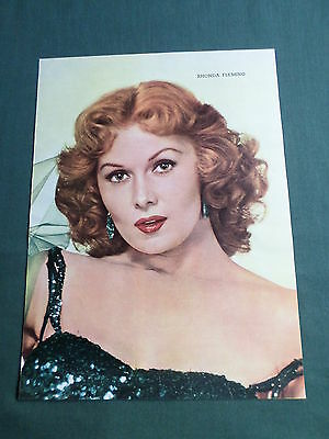 Rhonda Fleming - Film Star - 1 Page  Picture- Clipping/cutting