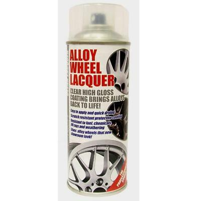 E-Tech Alloy Wheel Lacquer / 400Ml Clear High Gloss Aerosol Spray