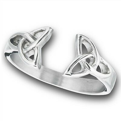 Stainless Steel Ring Jewelry CELTIC Opposing Triad Knots Size 5-10