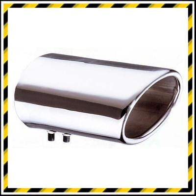 Stainless Steel Dynamic Oval Exhaust Trim - Tail Pipe/Tip - Fits 55-80mm Exhaust