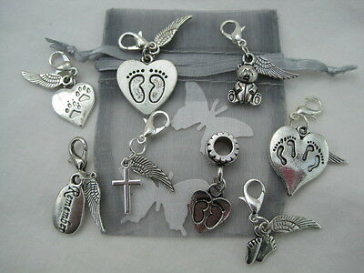 Unique Baby/Pet Loss Bereavement Memorial Clip-On Charms Memory Handcrafted Gift