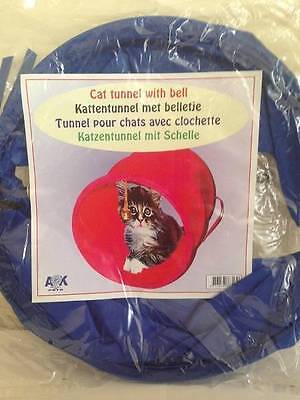 ** Cat Tunnel With Bell Blue New** Toy Kitten