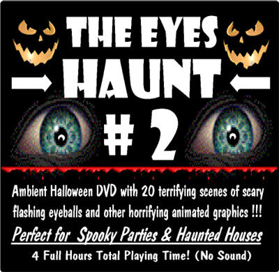 Animated Halloween Video Effect Creepy EYE'S DVD Scary Haunted House Prop #2