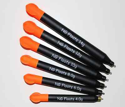 NG Floats Flighted Loaded Pellet Wagglers, Top Quality, Six Sizes