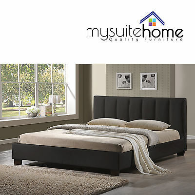 Paris Brand New Matt Black /White King/Queen/Double Size PU Leather Bed Frame