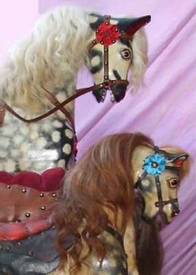 Small Rocking Horse Set - Mane, Forelock & Tail - Cow Hair Assorted Colours
