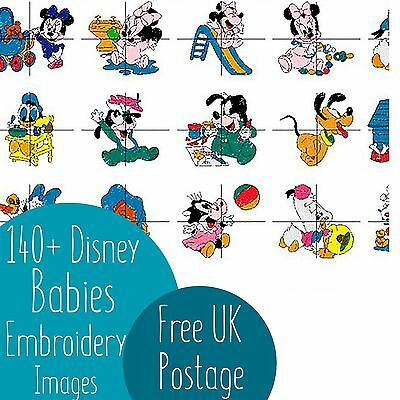 140+ Disney Babies Embroidery Machine Design Images on CD PES *