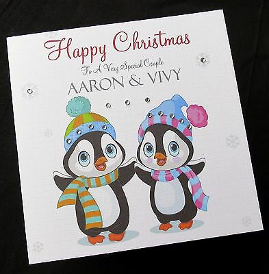 Handmade Personalised Christmas Card Mum /& Dad,Special Friends,Special Couple