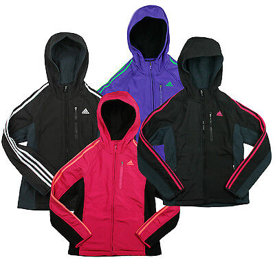 Adidas Youth Girl's Full Zip Polar Fleece Zip Up Hoodie, Multiple Colors