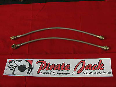 """7/16"""" Stainless Steel Brake Hose w/ Hose Clips, Banjo Bolts, Washers, & Tabs"""