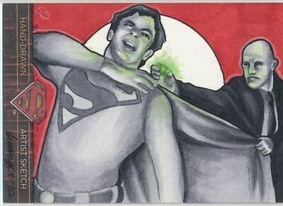 2013 Superman the Legend sketch card Superman & Lex Luthor by Stephanie Swanger