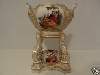 19TH CENTURY PORCELAIN  DRESDEN BERLIN INCENSE / OIL  BURNER