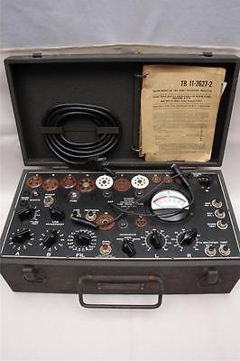 Daven Military Dynamic Mutual Conductance Tube Tester I-177-B-Tested/Working