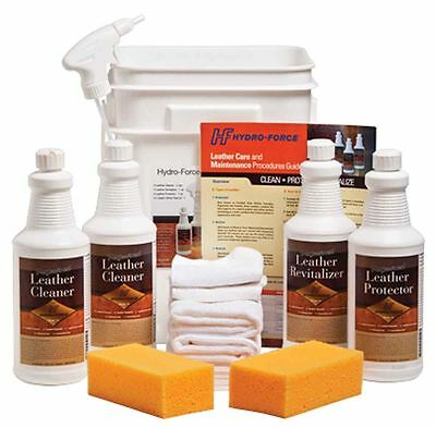 Leather Cleaning Kit Training Guide, Chemicals & Pad cleaner Hydro-Force CL03H