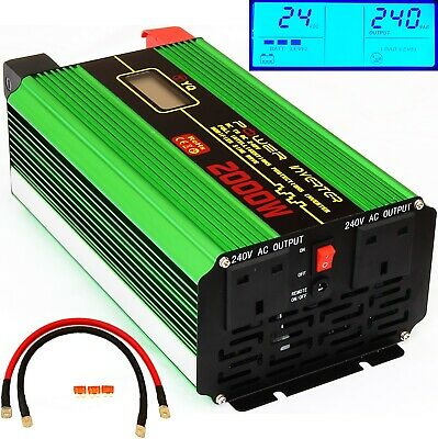 2000W, 3000W, 4000W Dc24V To Ac240V Power Inverter Lcd Display Soft Start