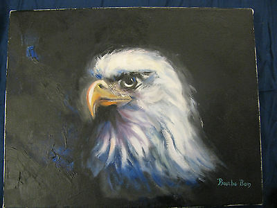 Barbe Ben Paintings eagle 14 x 11 oil -  on canvas