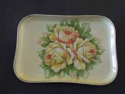 Vintage O & E .g. Royal Austria Handpainted  Yellow Roses Platter