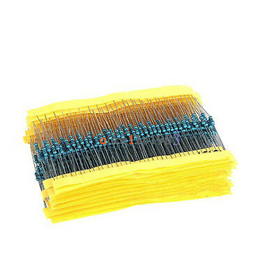 1/4w Resistance 1% Metal Film Resistor Bag 20 kinds Each 20 Total 400pcs top