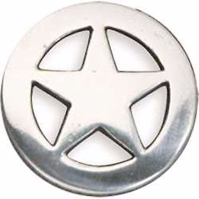 """Old Ranger Star Screwback Concho 1-1/4"""" Silver Plate 7993-05 by Tandy Leather"""
