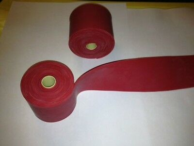 2 (TWO) Fitness Mobility Band PT Strength Strip compression Red Floss Band New