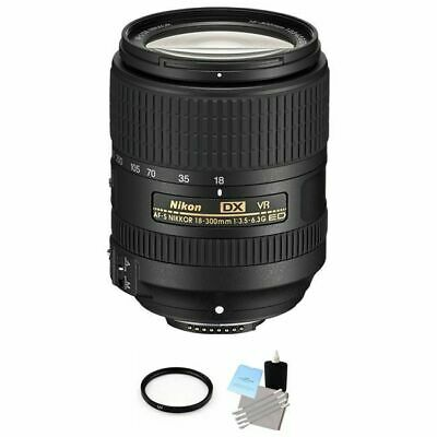 Nikon AF-S DX NIKKOR 18-300mm f/3.5-6.3G ED VR Lens + UV Filter & Cleaning Kit