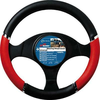 Speed Black With Red Inserts Steering Wheel Cover / Glove - Universal 37-39Cm