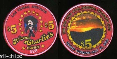 $5 Arizona Charlies Grand Opening Obsolete Uncirculated Las Vegas Casino Chip