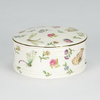 Jewellery box - Porcelain jewelry trinket Box Jar - Dragon Butterfly- Keys - NEW