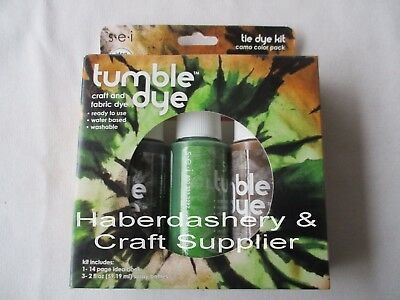 Fabric & Craft Dye Kit *permanent 3 Camo Colors *water Based