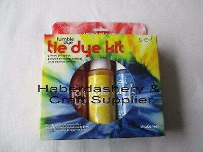 Fabric & Craft Dye Kit *permanent 3 Primary Colors  *water Based